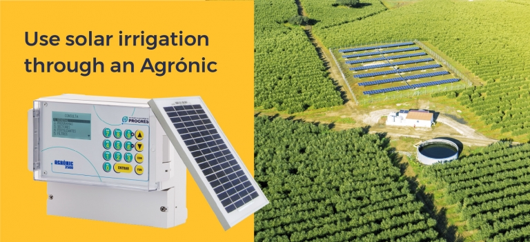 Optimize solar energy use to save on resources with the Agrónic 2500
